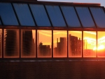 Cincinnati sunset reflected