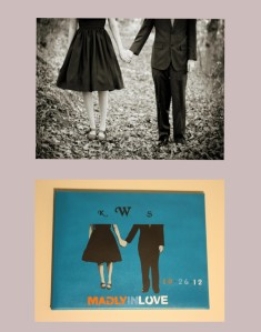 Wedding picture before and after